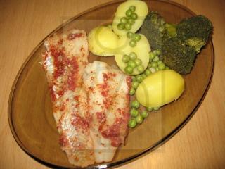 Filet z aljašskej tresky na pare