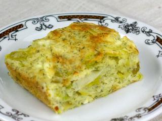 Pórový koláč so syrom