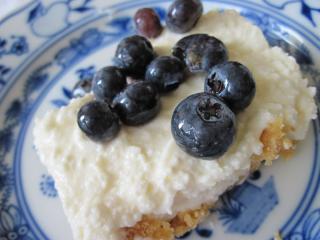 Domáci Cheesecake s čučoriedkami