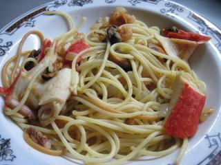 Špagety s plodmi mora