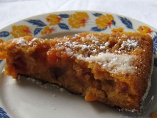 Karamelovo - nektarínkový obrátený koláč