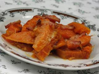 Zapekaný sladký zemiak s tekvicou hokaido