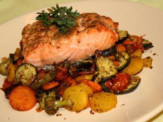 ActiFry grilovaný losos so zeleninou