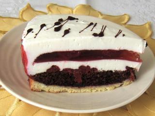 Tvarohová torta s jahodovým želé