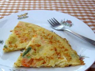 Zemiakovo-zeleninová omeleta pre deti
