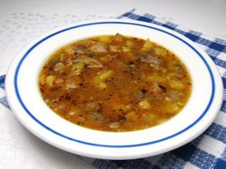 Hlivová polievka na spôsob držkovej