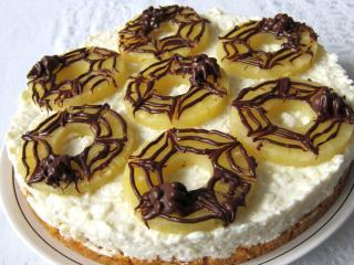 Nepečená tvarohovo-ryžová torta Halloween