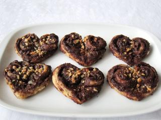 Čokoládovo-orieškové srdiečka