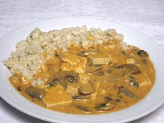 Tofu-šampiňónová omáčka