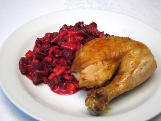 Pečené cesnakové kurča