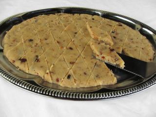 Krupicový indický koláč