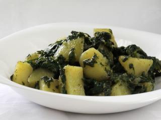 Špenátové zemiaky