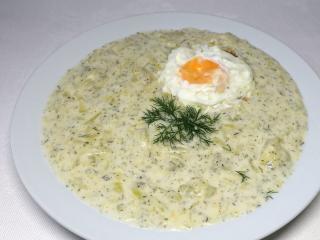 Smotanový zemiakovo-tekvicový prívarok