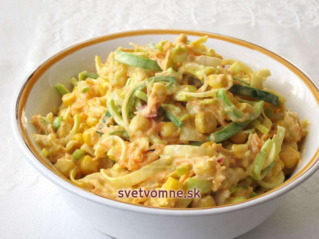 Mango-zeleninový krémový šalát