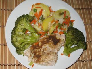 Jednoduché kuracie prsia s brokolicou