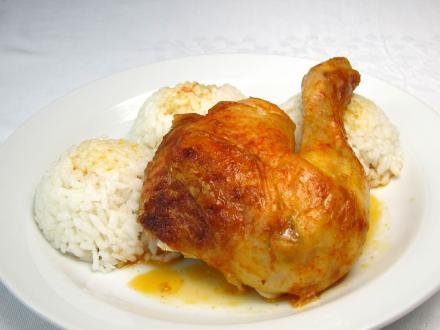 Pečené kurča s ryžou