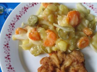 Letný zemiakový šalát