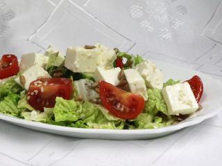 Zeleninový šalát so syrom Feta