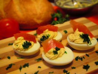Vajcia s lososom