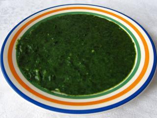 Špenátový prívarok z čerstvého špenátu