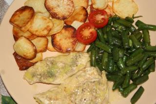 Kuracie na masle s restovanou fazuľkou