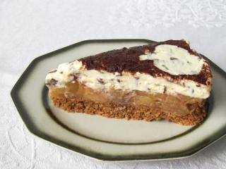 Nepečená jablkovo-mascarpone torta
