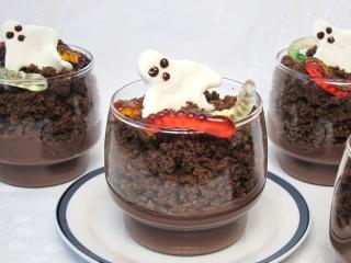 Pudingový Halloween pohár