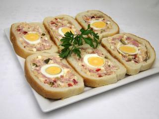 Plnené chlebíčky