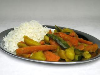 Zeleninové sabdži s cuketou a ryžou basmati