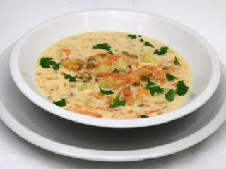Jesenná smotanová polievka