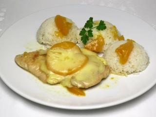 Morčacie prsia s broskyňou a mozzarellou