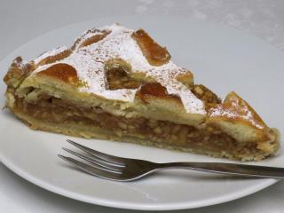 Valentínsky jablkový koláč
