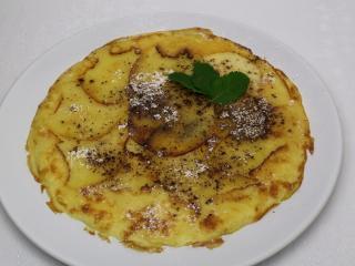 Jablková omeleta