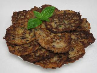 Fazuľovo zemiakové placky s bazalkou