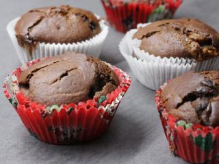 Kakaové mafiny s čokoládou