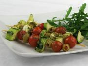 Grilované zeleninové špízy s pestom