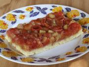 Čerešňový koláč s rebarborou