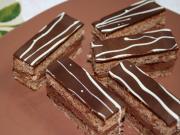 Čokoládovo orechové rezy
