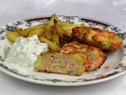 ActiFry Lososové fašírky s pečenými zemiakmi
