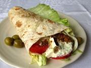 Grécky kurací wrap