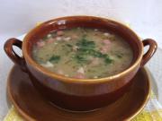 Hŕstková polievka so šunkou