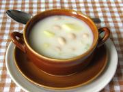Mliečna fazuľová polievka