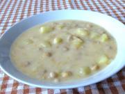 Zemiakovo-cícerová sladkokyslá polievka