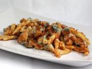 Makaróny zapečené s karfiolom, šampiňónmi a gorgonzolou