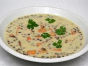Smotanová šošovicová polievka s batátmi