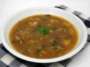Hlivová polievka s cesnakom