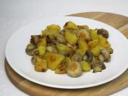 Opekané šampiňóny so zemiakmi