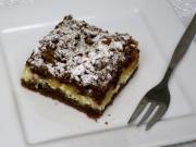 Strúhaný tvarohový koláč s jablkami