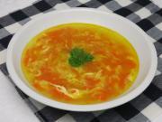 Vajíčková polievka s mrkvou
